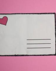 back black-pink postcard