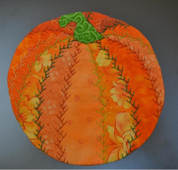 Pumpkin Crazy Quilt Mug Rug Pellon 174 Projects