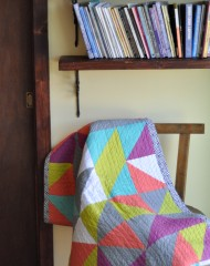 Just Tri It! Quilt by Lauren Dahl for Pellon Projects