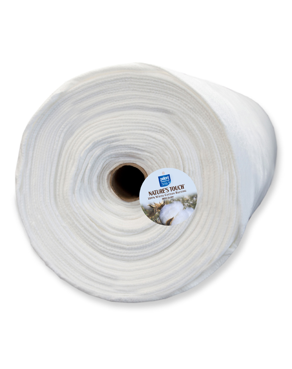 G 100 Bleached Cotton Batting With Scrim Needle
